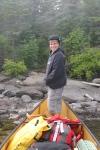 Daniel in canoe