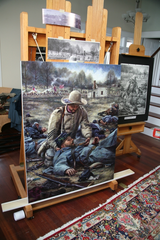 Finished Kirkland painting in the studio